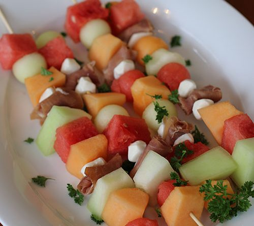 Prosciutto and Melon Skewers
